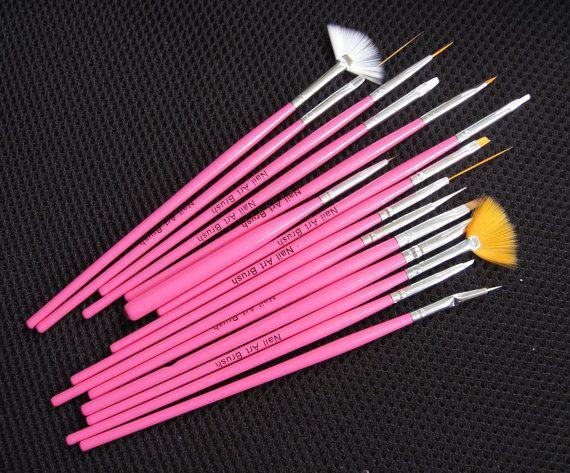 Nail Art Brushes  Professional Nail Art  15pcs Nail Art by EuStore