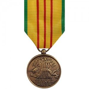 The Vietnam Service Medal (VSM) is a decoration of the U.S. military presented to personnel of any branch of the U.S. Armed Forces who performed military service during the Vietnam War and meet specific qualifications laid out by the United States Department of Defense.