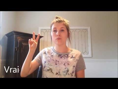 (16) Mots de base- Langage des signes - YouTube