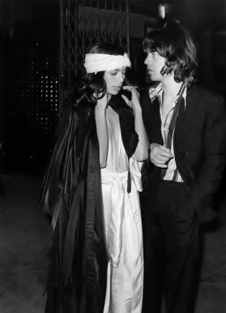 Bianca & Mick Jagger. @thecoveteur