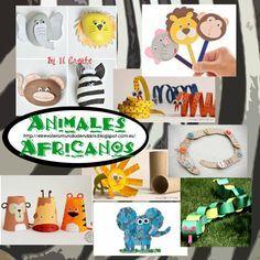 Animales.africanos.manualidades
