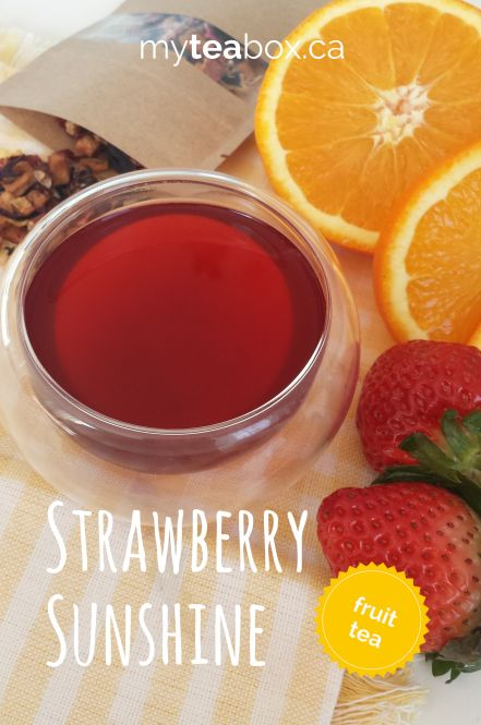 Strawberry Sunshine. Featured tea from myteabox.ca