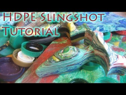 How To Make a Recycled Slingshot From HDPE Bottle Caps - Strong, Lightweight, Waterproof - YouTube