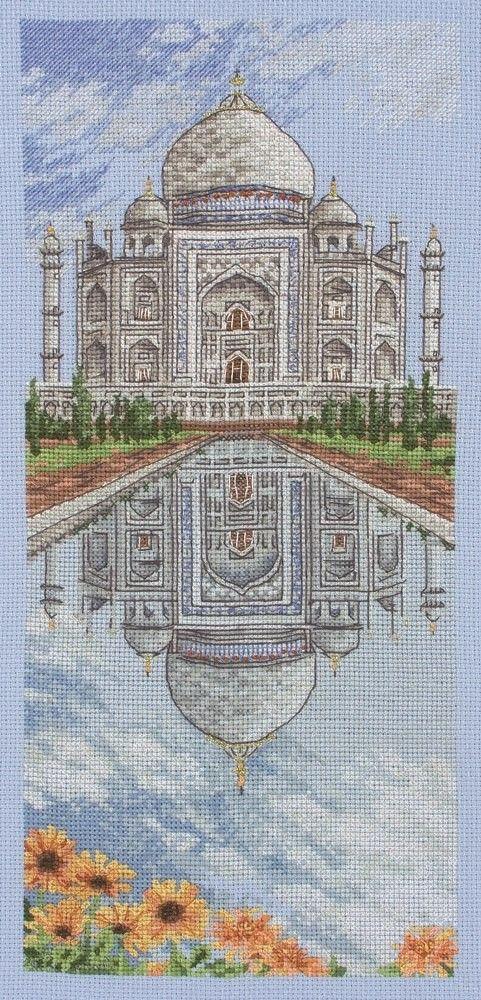 El Taj Mahal Anchor puntada cruzada contada Kit, Black Sheep Wools
