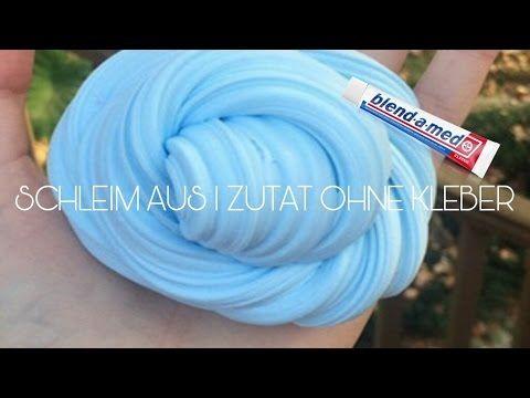 SCHLEIM AUS ZAHNPASTA 1 ZUTAT - YouTube