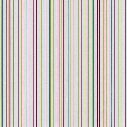 Colore: Bianco e multicolore, motivo a righe, colore: rosso, Blu, Verde, Giallo, effetto carta da parati a strisce, 05564-20