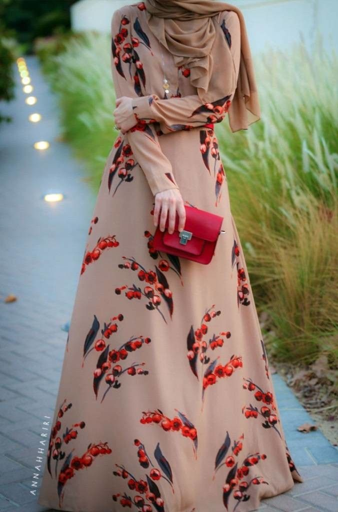Modern Dresses With Hijab Fashion
