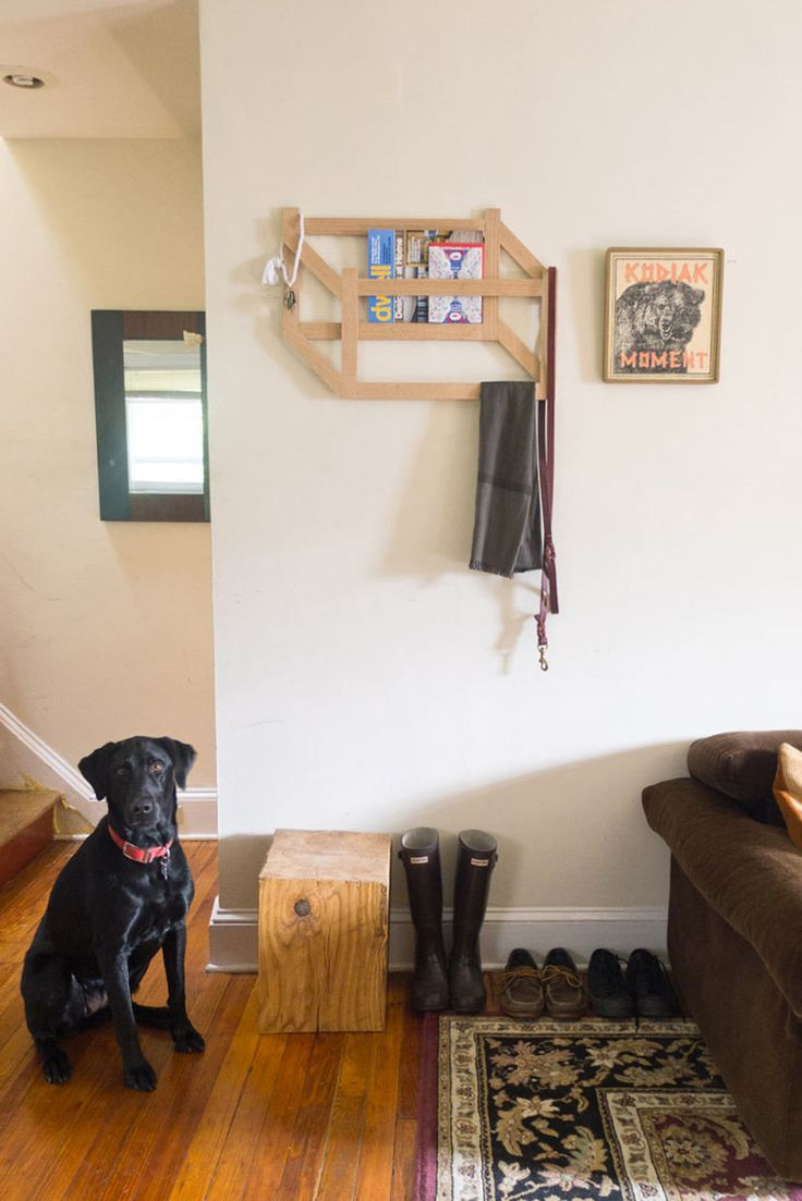 DIY Trompe Lu0027Oeil 3D Coat Rack