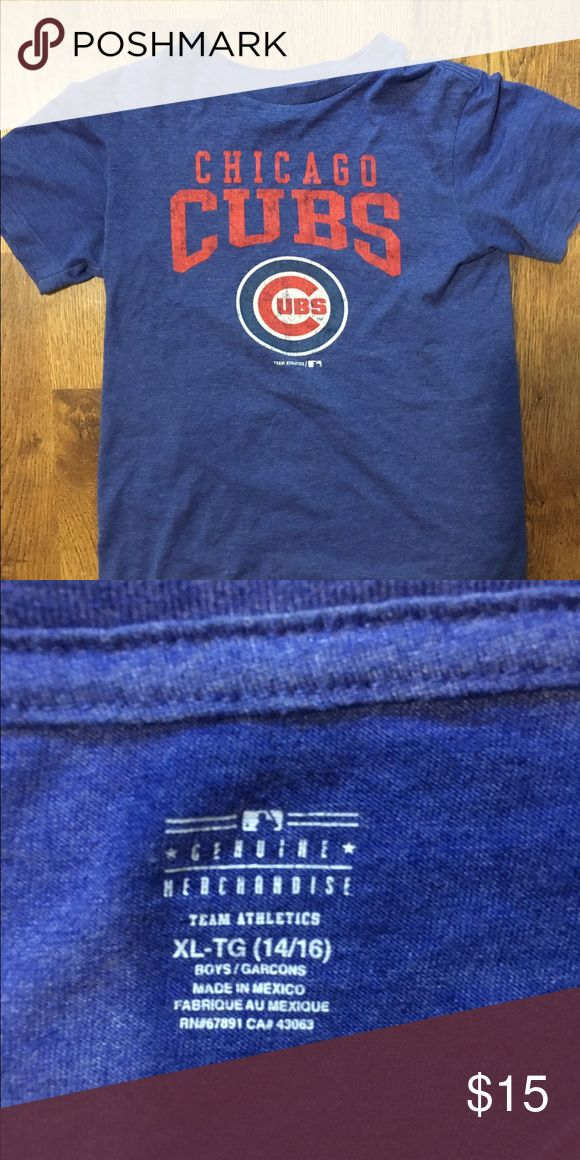 Boys knit Chicago Cubs T-shirt This is all like new supersoft knit T-shirt with the vintage look. Very cute and comfy! Nike MLB Shirts & Tops Tees - Short Sleeve