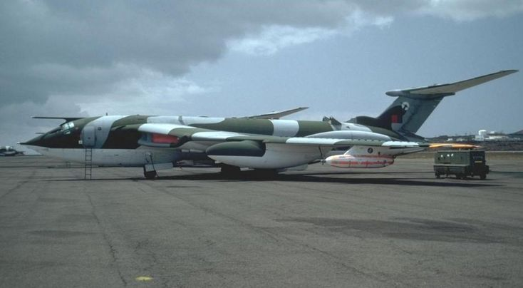 Post-Falklands War, in 1982 one of the 'Black Buck' Victor K.2s (Wideawake airfield, Ascension Island).