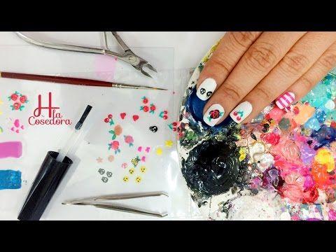 Cómo hacer tus propios stickers para las uñas en casa? - How to Create Nail Art stickers at home ? - YouTube