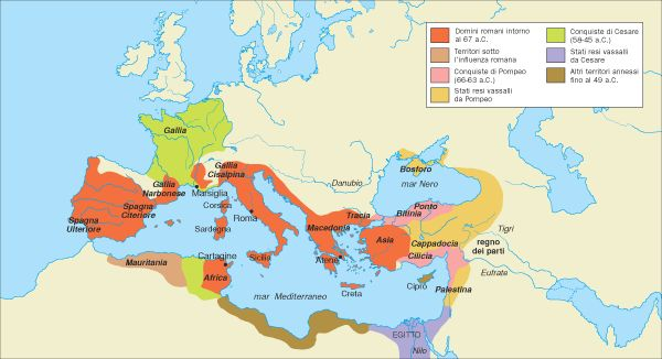 BM (Bruno Mondadori) Storia Insegnanti - I domini di Roma alla morte di Cesare