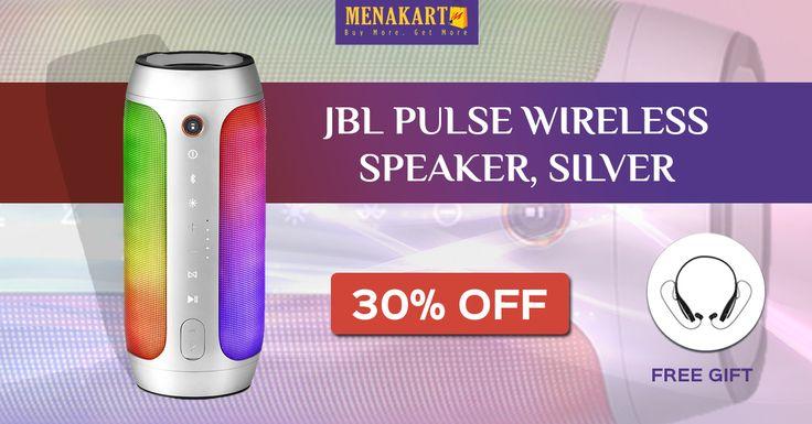 Shop for JBL Pulse Wireless Speaker, Silver Online #Speakers #Online #Shopping #Menakart #JBL