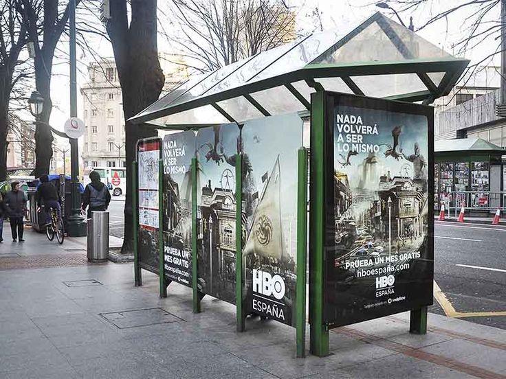 Publicidad exterior de HBO en Bilbao