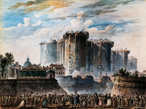 Storming of Bastille, July 14, 1789, gouache by Jean-Pierre Houal (1734-1813), French Revolution, France  | Getty Images