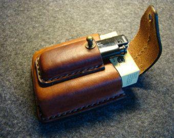 Leather cigarette case cigarette holder Gifts от ArtLeatherDesign