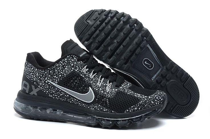 Nike Air Max 2013 CAMO Männerschuhe Schwarz Silber