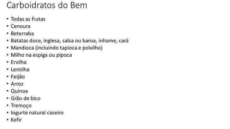 Lista de Carboidratos do BEM