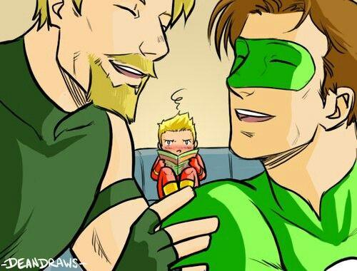 Halbarry Hal Barry Flash Green Lantern Green Arrow