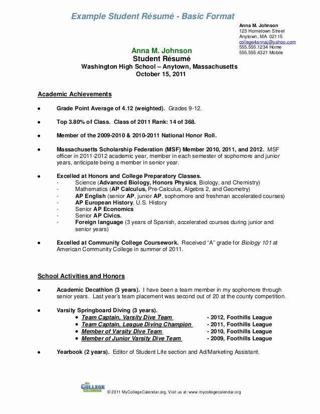 Resume Samples For College Student Elegant Student Resume Format A Resume Objective Examples Resume Examples College Resume Template