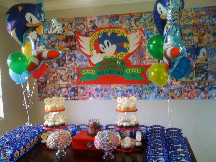 Super Sonic Birthday Party Theme ♥ Dylan's Birthday