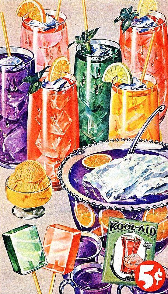 """1949 vintage Kool-Aid ad """"Kool-Aid! Kool-Aid! Tastes great! Kool-Aid! Kool-Aid! Can't wait!"""""""