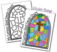 my Lenten good deeds - coloring - chart