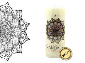 vonná vybarvovací svíčka mandala - harmonie