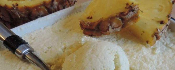 Ananas ijs met kokosmelk