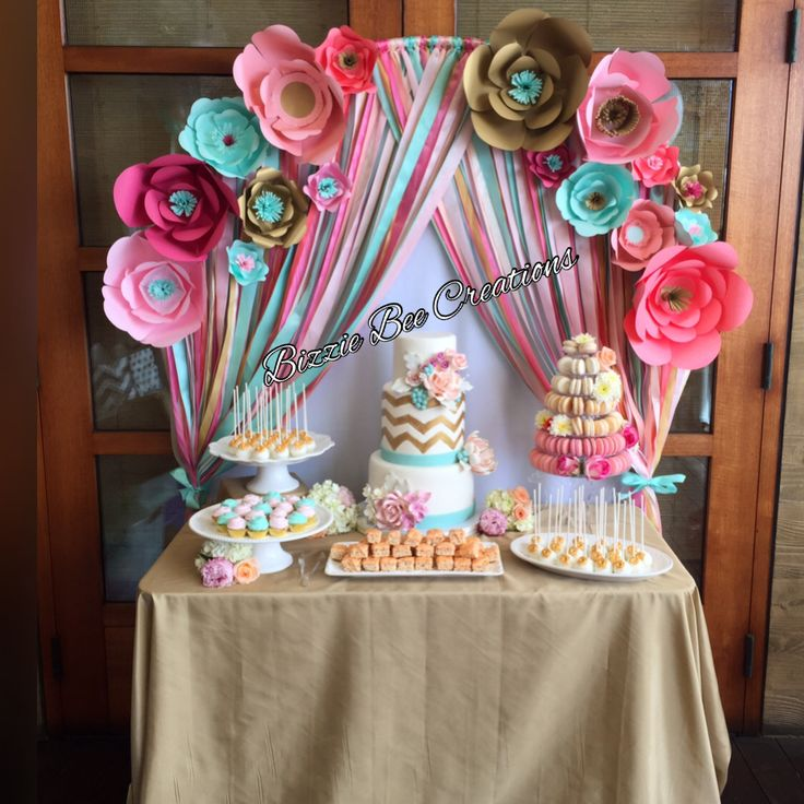 Baby Shower Dessert Table by Bizzie Bee Creations by Iris