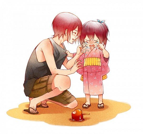 Free!   Rin and Gou Matsuoka   #kids #cute #Red_Hair