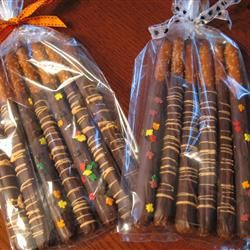 Dipped Pretzel Rods (Fall Bake Sale)