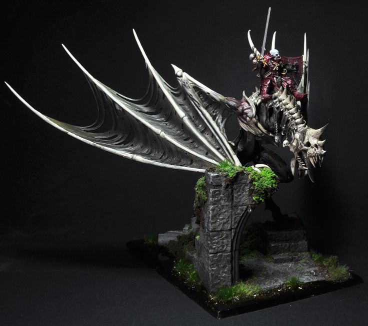 Warhammer FB | Vampire Counts | Vampire lord on winged nightmare #warhammer #ageofsigmar #sigmar #wh #whfb #gw #gamesworkshop #wellofeternity #miniatures #wargaming #hobby #fantasy