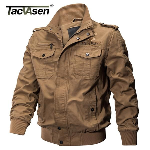 Fashion Men/'s Casual Army Jacket Coat Military Bomber Tactical Overcoat Outwear