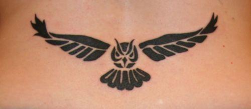 tattoo barbie 2012: Tribal Owl Tattoo Designs