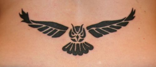 tribal Owl Tattoo | Tribal Owl Tattoo