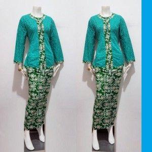 Blouse batik panjang model pramugari airlines indonesia yang modis dan trendy