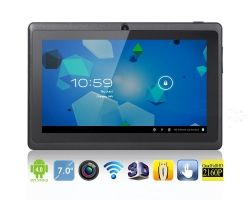 WolVol NEW (Android 4.0 - 1GB RAM) Ultra-Thin BLACK 7inch Tablet PC Touch Screen, WiFi and Camera with Google Play, Flash Player (Includes: Velvet Pouch Case, Touch Pen, Charger, Screen Protector)Price: $99.94
