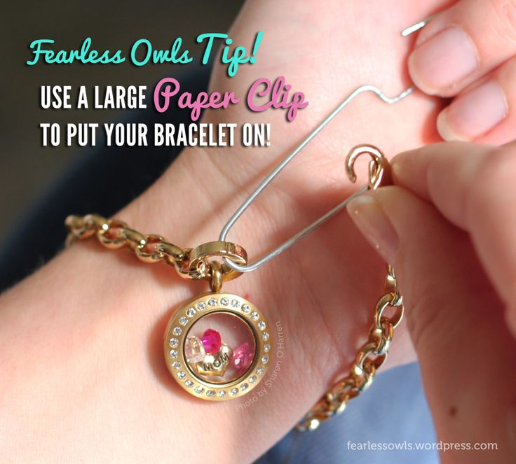 Here's a great tip to help you put on your Origami Owl bracelet! All you need is a large paper clip and voila! www.sharono.origamiowl.com