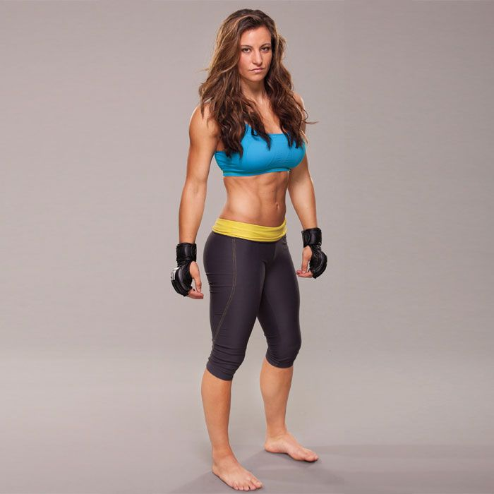 Don't get in Miesha Tate's way: After wrestling on the boys' team in high school, she went on to excel as a professional mixed martial artist (MMA), boasting an impressive 13–4 record. Steal her tips for scoring a winning body here!