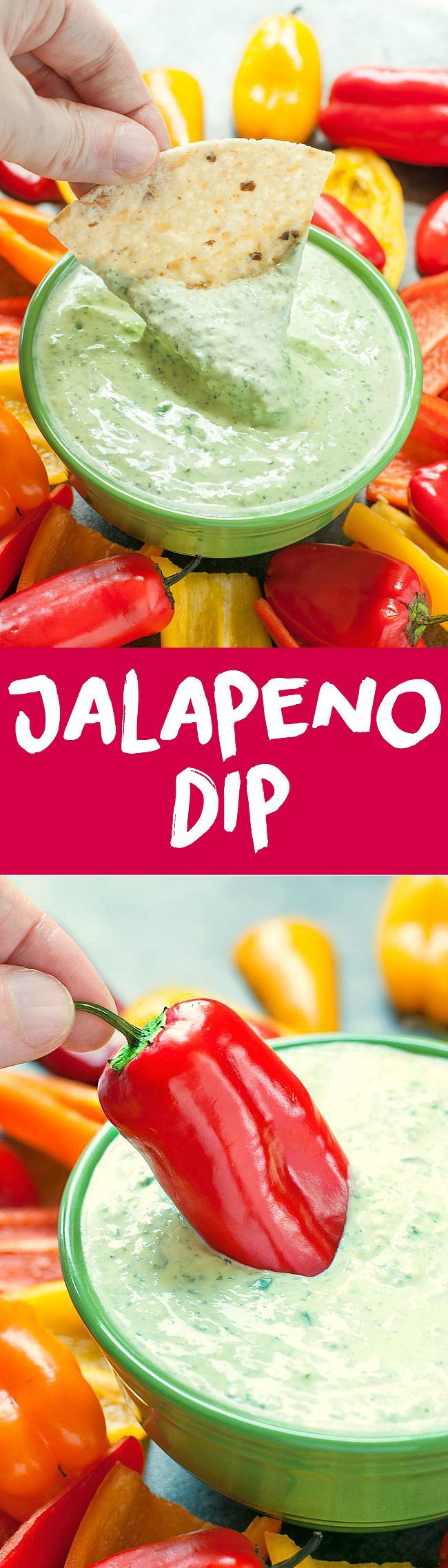 Get ready to party with this sassy, spicy 5-minute Greek Yogurt Jalapeño Dip!