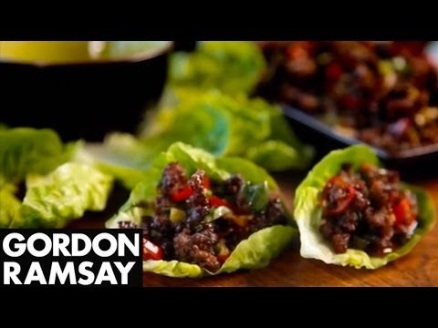 Chilli Beef Lettuce Wraps - Gordon Ramsay. For those who are looking for an appetizer (why not as a Sunday dinner?) with the perfect combination of hot but tasty. Might be a bit spicy for some.