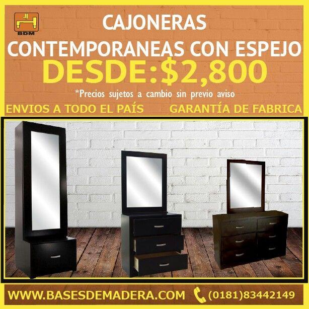 Bases de Madera en Monterrey, Nuevo León Cajonera, closet