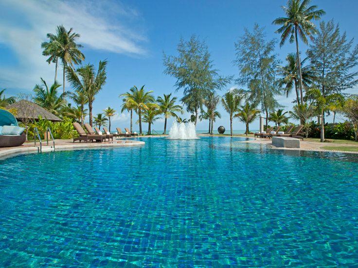 Take a splash in this inviting pool at Le Meridien Khao Lak Beach & Spa, Thailand  www.islandescapes.com.au