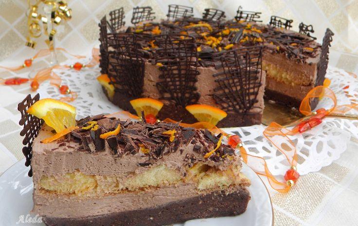 Aleda konyhája: Szilveszteri narancsos csokitorta