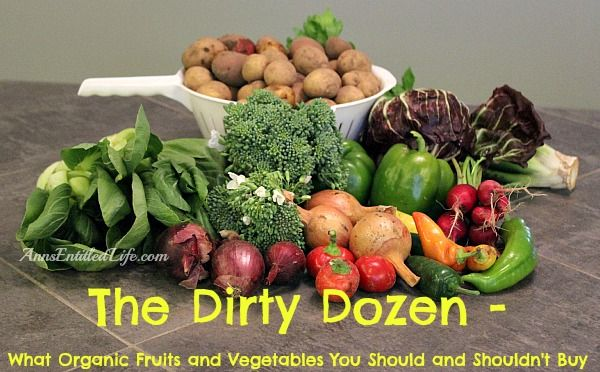 The Dirty Dozen – What Organic Fruits & Vegetables You Should & Shouldn't Buy  http://www.annsentitledlife.com/csa/the-dirty-dozen-what-organic-fruits-and-vegetables-you-should-and-shouldnt-buy/