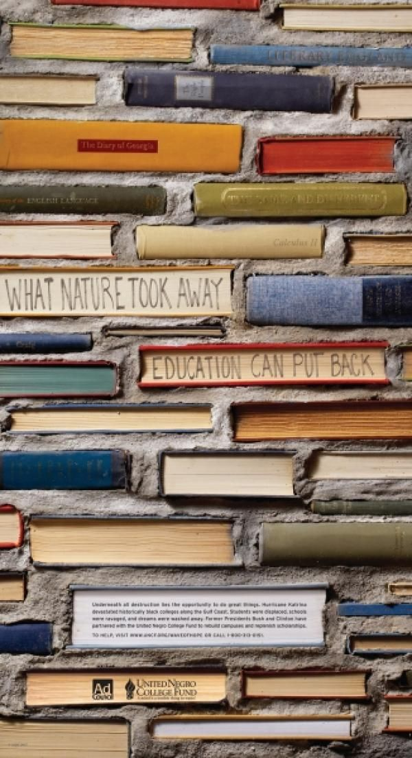 Wall of Books for Wave Of Hope fundraising initiative, By: Y & R New York