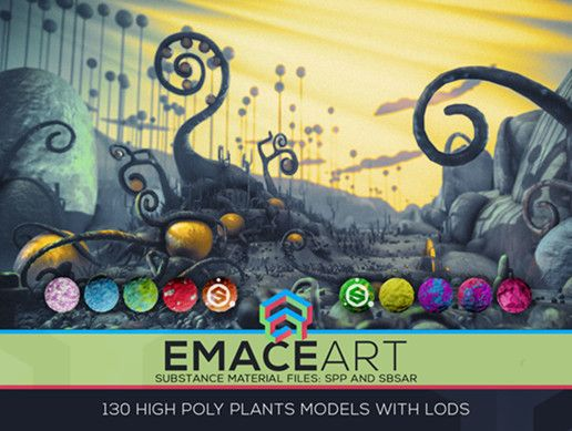 High Poly Magic Forest In the Plasticine World LODs #wishlist