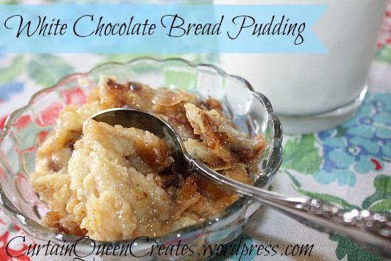 Bread Pudding on Pinterest | White chocolate bread pudding, Bread ...