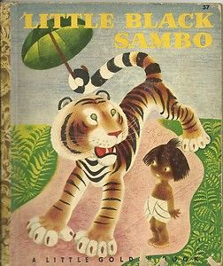 "Vintage Little Golden Books: This book was taken off the market for being ""racist"". I just thought it was a sweet story and never considered a ""color"". Too bad"